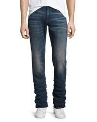 Psycho Bunny River Denim Dark Wash Slim Leg Jeans Indigo