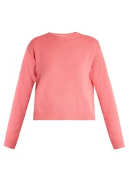 Valentino Open Back Cashmere Sweater Pink