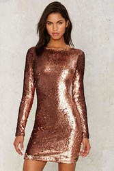 Motel Nominee Sequin Dress Copper