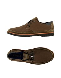 Camper Lace Up Shoes Military Green