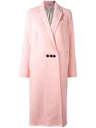 Courreges Oversized Long Coat Pink Purple