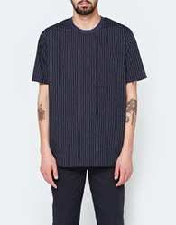 Maiden Noir Stripe Ss Crew Shirt Navy