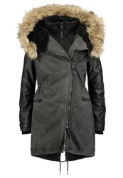 Khujo Karvin W.I.J. Winter Coat Charcoal Black