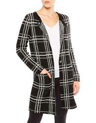 Sanctuary Tonal Plaid Coat Black Creme
