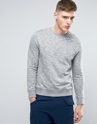 Esprit Basic Crew Neck Sweatshirt In Grey Grey Melange