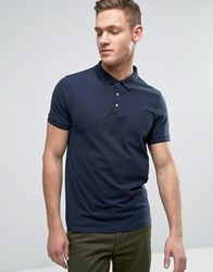 Selected Homme Popper Polo Dark Sappire Navy