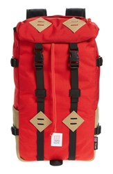Topo Designs 'Klettersack' Backpack Red Red Khaki Leather