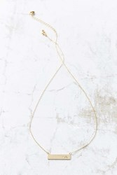 Urban Outfitters Initial Bar Necklace
