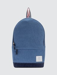 Thom Browne Unstructured Backpack In Washed Denim Pebble Grain