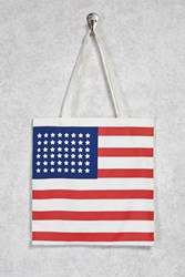 Forever 21 American Flag Eco Tote Bag Beige Multi