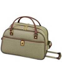 London Fog Oxford Hyperlight 19 Wheeled International Club Bag Only At Macy's Olive Houndstooth