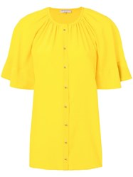 Emilio Pucci Pleated Top Yellow