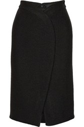 Proenza Schouler Wrap Effect Boucle Skirt Black