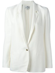 Forte Forte Single Button Blazer White