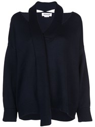 Monse Deconstructed Sweater Blue
