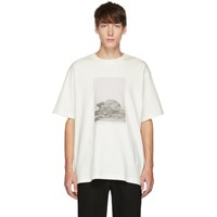 Song For The Mute White Island Print T Shirt