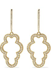 Larkspur And Hawk Emily's Garden Cloud 14 Karat Gold Diamond Earrings