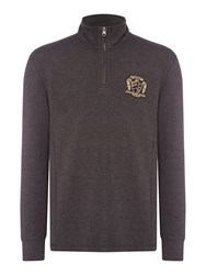 Howick Men's Leavenworth Half Zip French Rib Pullover Charcoal