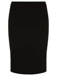 Planet Ribbed Pencil Skirt Black