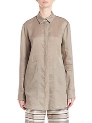 Lafayette 148 New York Silky Button Up Mica