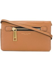 Marc Jacobs 'Gotham' Wallet Crossbody Bag Brown