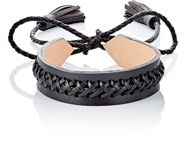 Wendy Nichol Braided Leather Choker Colorless