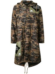 Undercover 'Bloody Geekers' Camouflage Raincoat Multicolour