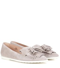 Tod's Suede Loafers Grey