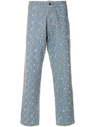 Telfar Embroidered Jeans Blue