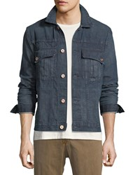 Billy Reid Clayton Selvedge Denim Jacket Blue