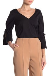 Lafayette 148 New York Riley Blouse Black