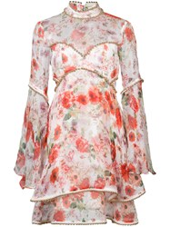 Thurley Floral Print Dress Red