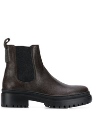 Brunello Cucinelli Slip On Ankle Boots Brown