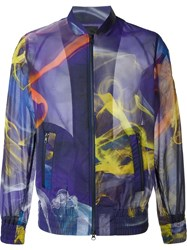 Y 3 Printed Bomber Jacket Multicolour