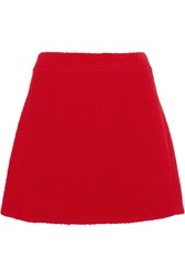 Victoria Beckham Teddy Wool Blend Boucle Mini Skirt