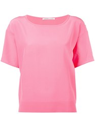 Agnona Plain T Shirt Pink Purple