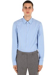 Gucci Cotton Striped Shirt Blue White