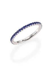 Kwiat Sapphire And 18K White Gold Eternity Stacking Ring