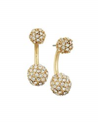 Lydell Nyc Pave Crystal Ball Jacket Drop Earrings