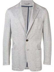 Canali Straight Fit Blazer Grey