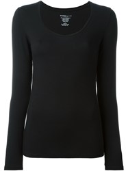 Majestic Filatures Scoop Neck Long Sleeve T Shirt