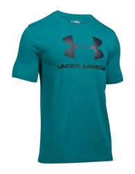 Under Armour Charged Cotton Sportstyle Logo Tee Turquoise Black