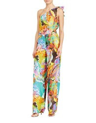 Lauren Ralph Lauren Paisley Patterned One Shoulder Jumpsuit Multi