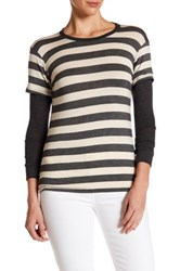 Candc California Soft Striped Twofer Tee Multi