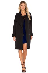 Line And Dot Cecil Button Coat Black