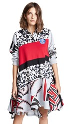 Koche Polo Girl Dress Natural Leopard Red Black