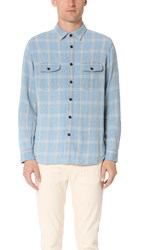 Alex Mill Indigo Flannel Shirt Light Indigo