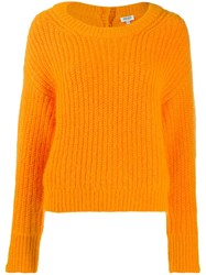Kenzo Tassel Detail Jumper Orange