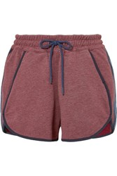 Lndr Jog Cotton Blend Jersey Shorts Burgundy
