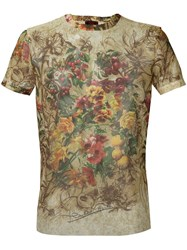 Jean Paul Gaultier Vintage Sheer Floral Print Top Multicolour
